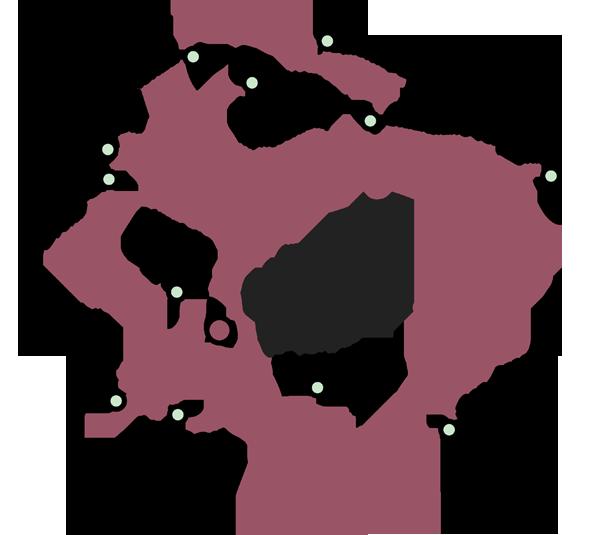 Mappa dei dintorni di Bagni San Filippo Val d'Orcia e Monte Amiata
