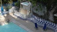 La Cascata idromessaggio della piscina di san filippo